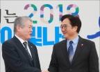 김용익 건보공단 이사장, 우원식 민주당 원내대표 예방