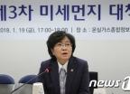 [사진]김은경 장관, 미세먼지 대책회의 모두 발언