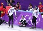 쇼트 男 계주, '4위로 올림픽 마감'