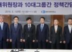 공정거래위원장과 10대 그룹간 정책간담회