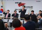 선대위 전체회의 참석한 김문수