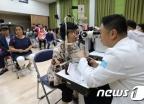 [사진]'안과검진 받는 외국인 거주자들'