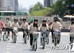 [사진]'자전거 타고 청계천 누벼요'