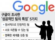 구글이 말하는 '성공적인 팀' 특징 5가지는 무엇?