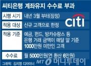 씨티은행, 내년 3월부터 소액거래 고객에 월 5000원 수수료