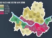 최근 5년간 분양단지 청약경쟁률 강남>서초>용산>송파구