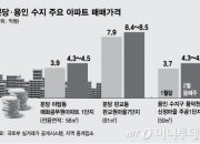 강남 집값 누르자, 치솟는 분당·용인