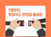 [카드뉴스] 9월부터 뒷좌석도 안전띠 매세요