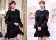 이나영, 원피스에 니삭스+킬힐 패션…각선미 '매끈'