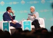 """IMF 총재 """"세계경제 4가지 먹구름"""" …경제적 폭풍 가능성 경고"""