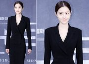 '아이템' 김유리, 잘록한 허리 강조한 블랙룩…'시크'