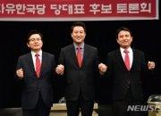"""김진태 """"촛불이냐 태극기냐""""…오세훈 """"유치한 질문"""""""