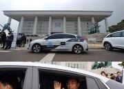 엔디엠, 자율주행차 국회의사당 운행시연 성공