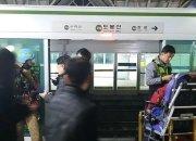 7호선 지하철 탈선, 퇴근길 시민들 '불편'