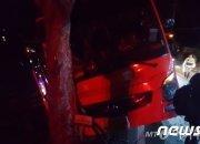 남해 보리암 향하던 관광버스 가로수 추돌..44명 부상