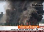 中 후난성 관광버스 화재 사고로 54명 사상..한국인 피해 없어