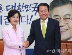 박주선, 추미애 대표 예방