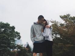 스테파니 미초바, 빈지노 입대 전 사진 공개…애틋한 '키스'