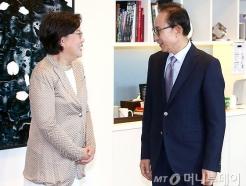 이혜훈 대표, 이명박 전 대통령 예방