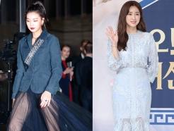 이호정·차정원, 각선미 뽐낸 시스루 패션…'섹시 vs 청순'