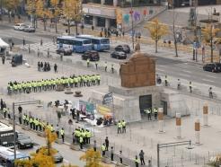 경찰 병력배치된 광화문 광장