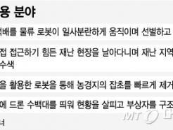[MT리포트]재난현장 누비는 '바퀴벌레 드론'…농사현장 날아다니는 '벌떼 드론'