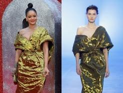 '오션스8' 리한나 vs 모델, 금색 드레스 패션