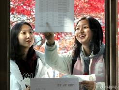 수능 D-1, 시험장 확인하는 수험생들
