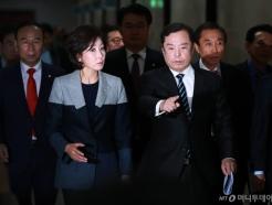 비대위 참석하는 김병준-나경원