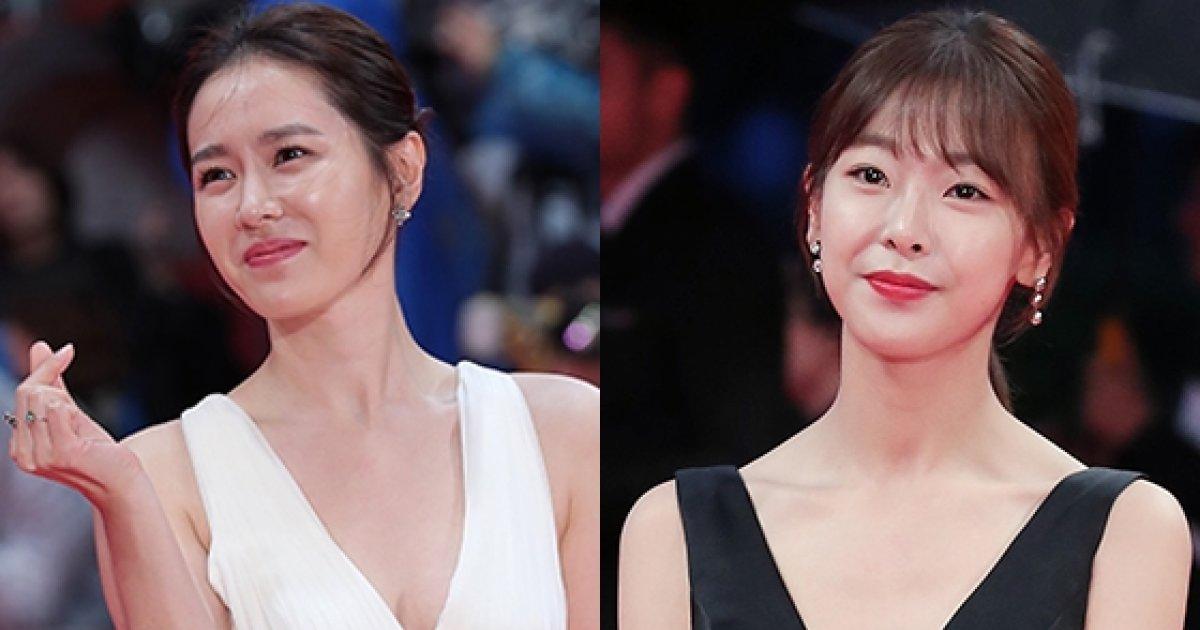 손예진·고원희, 볼륨감 뽐낸 과감한 드레스 자태 '눈길'