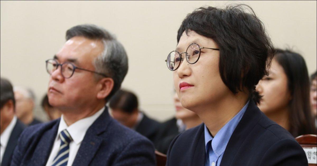 [사진]국감 출석한 김혜숙 유한킴벌리 상무이사