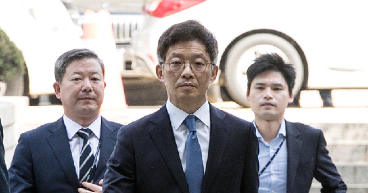 [사진]안태근 전 법무부 검찰국장 영장실질심사 출석