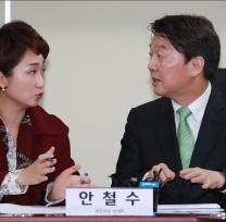 [사진]대화하는 안철수-이언주