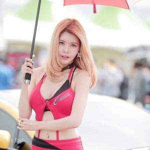'레이싱모델 윤선희 ' 금발 섹시미녀