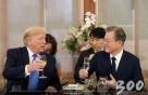 """트럼프 """"한일갈등 개입, 文대통령이 요청""""…靑 """"외교적 노력 일환"""""""