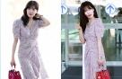 현아, 로맨틱한 공항 패션…부츠로 '포인트'