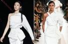 """설현 vs 모델, 어깨선 드러낸 파격 패션…""""시크한 매력"""""""