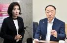 """[국감현장]野 """"일자리 성과, 文대통령·마크롱 차이"""" VS 홍남기 """"동의 못해"""""""