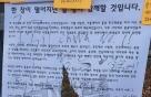 """'홍콩시위' 대자보 훼손한 中유학생 """"독도는 일본땅"""" 외쳐"""