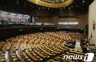 총선 비례대표 투표 의향…민주당 38% VS 한국당 26%