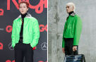 """송민호 vs 모델, 빨간 머리에 초록 재킷 """"멋짐 폭발"""""""