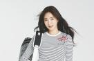 김사랑, 줄무늬 티셔츠+베이지 팬츠…골프웨어도 '세련'
