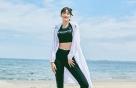 나은, 브라탑+레깅스 차림에 바람막이 패션…'늘씬'