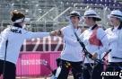 역시! 믿고보는 여자양궁, 단체전 金…올림픽 9연패 위업