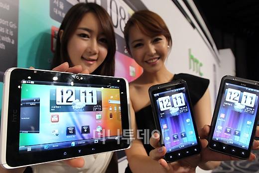 [사진]HTC, 4G 안드로이드 스마트기기 출시