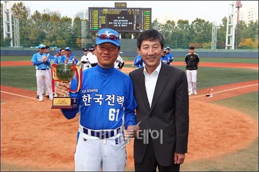 [사진]한국전력 '제1회 직장야구선수권대회' 준우승