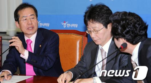 [사진]홍준표-원희룡, 디도스 대책 논의