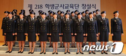 [사진]성신여대, 女大 두번째 학군단 창설