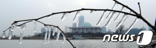 [사진]얼음에 갇힌 국회