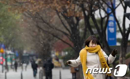[사진]눈내리는 즐거운 출근길